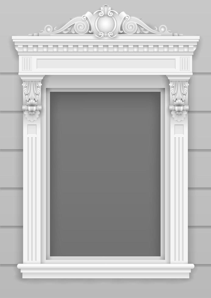 klassiek wit architectonisch raam vector