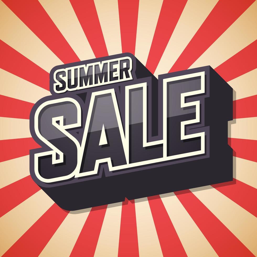 zomer verkoop rode sunburst achtergrond vector