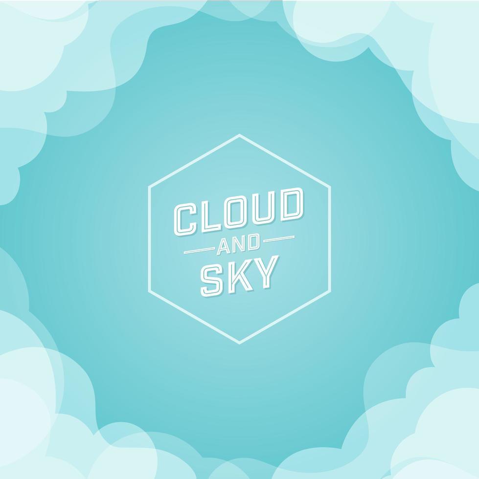 wolk en lucht ontwerp met kopie ruimte vector