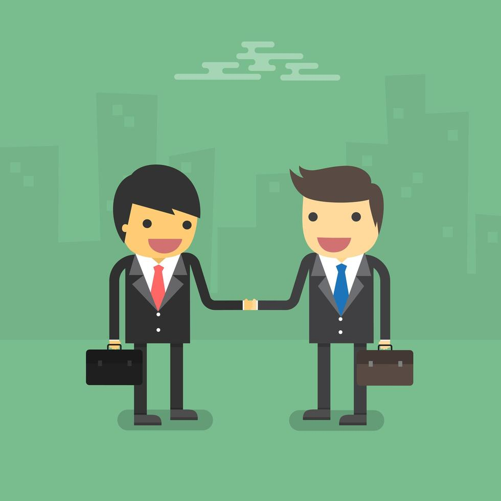zakelijke partnerschapshanddruk vector