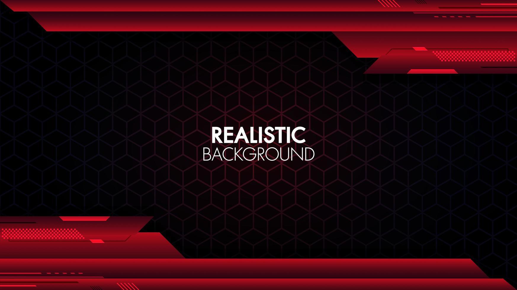 futuristische rode en blauwe geometrische compositie vector