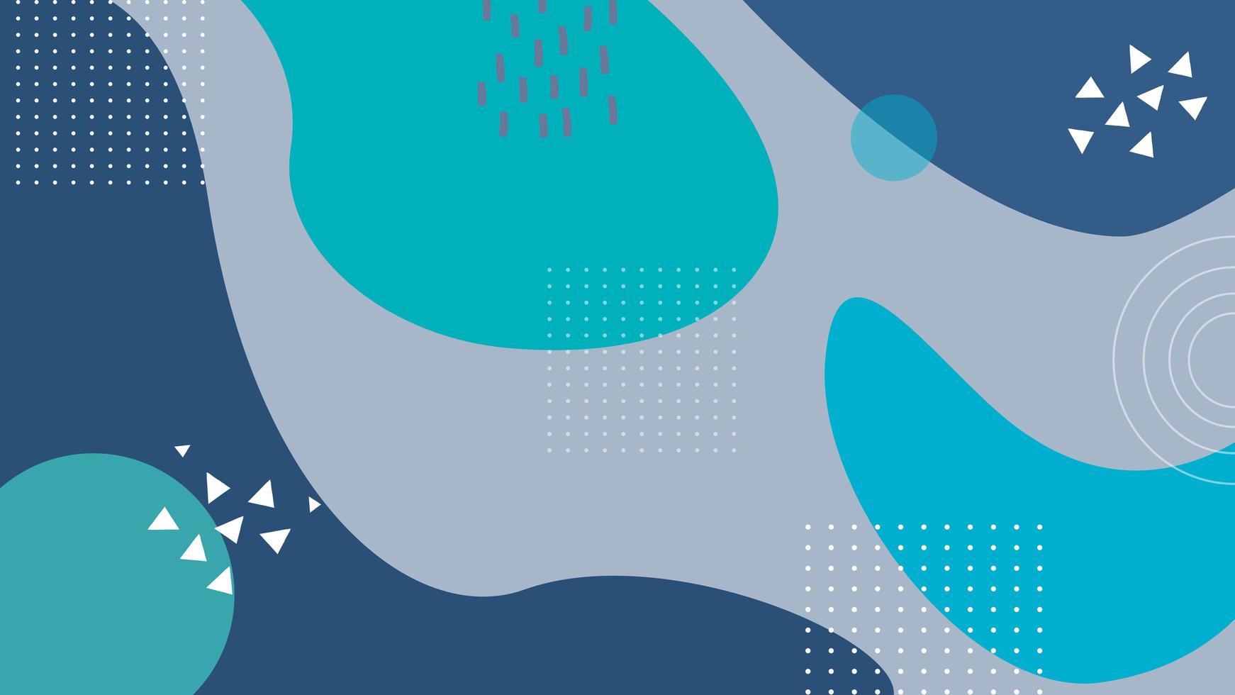 blauwgroen ontwerp met abstracte golvende vormen vector