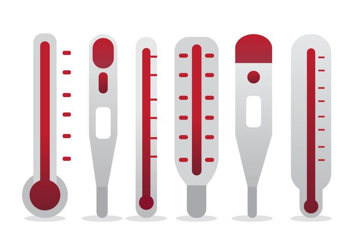 Doel Thermometer Vector Set