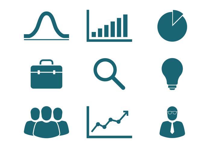 Marketing iconen vector