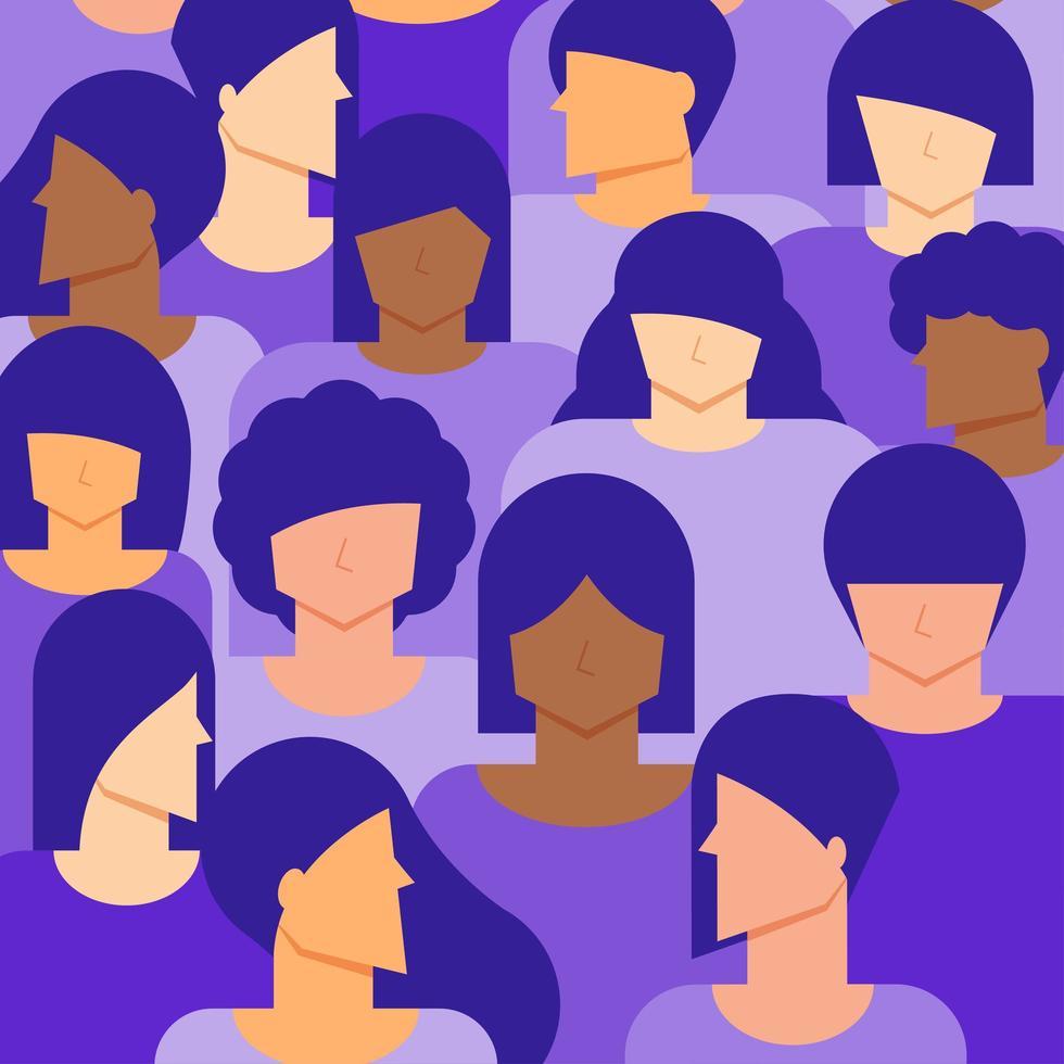 vrouwen vrouwelijke bevolking achtergrond vector