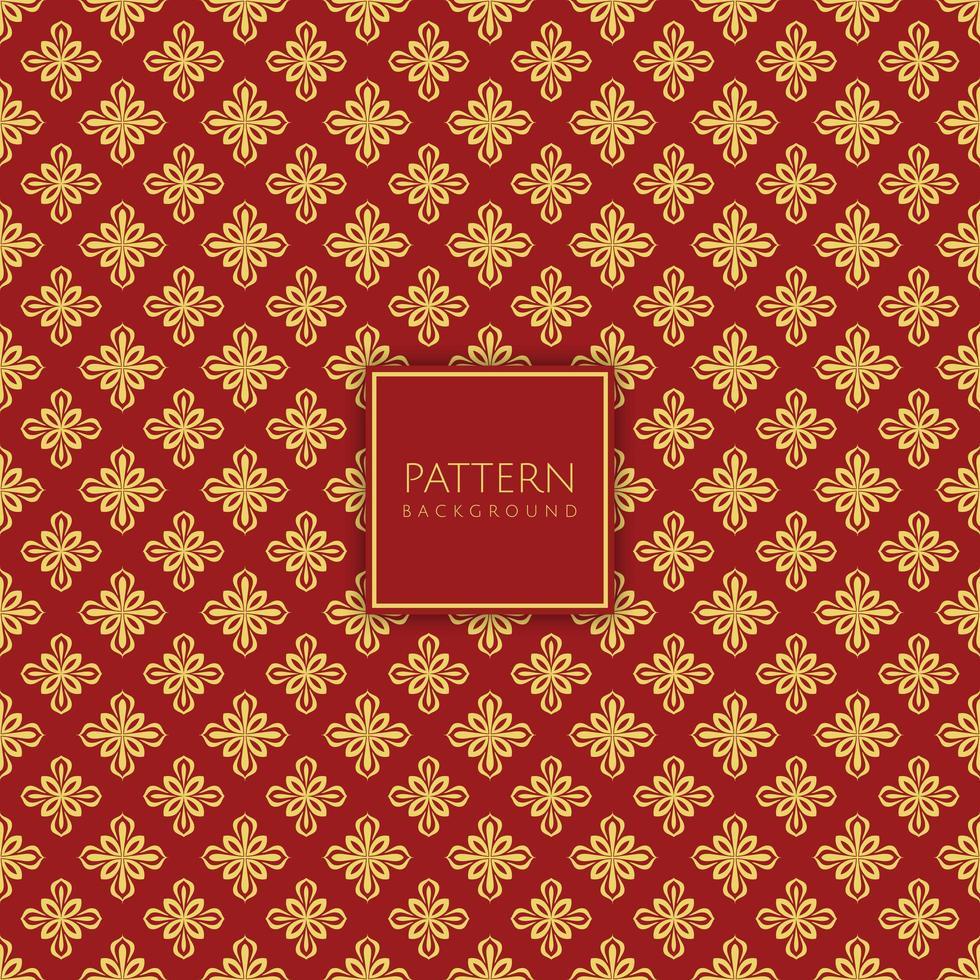 decoratief goud en rood ruitpatroon vector