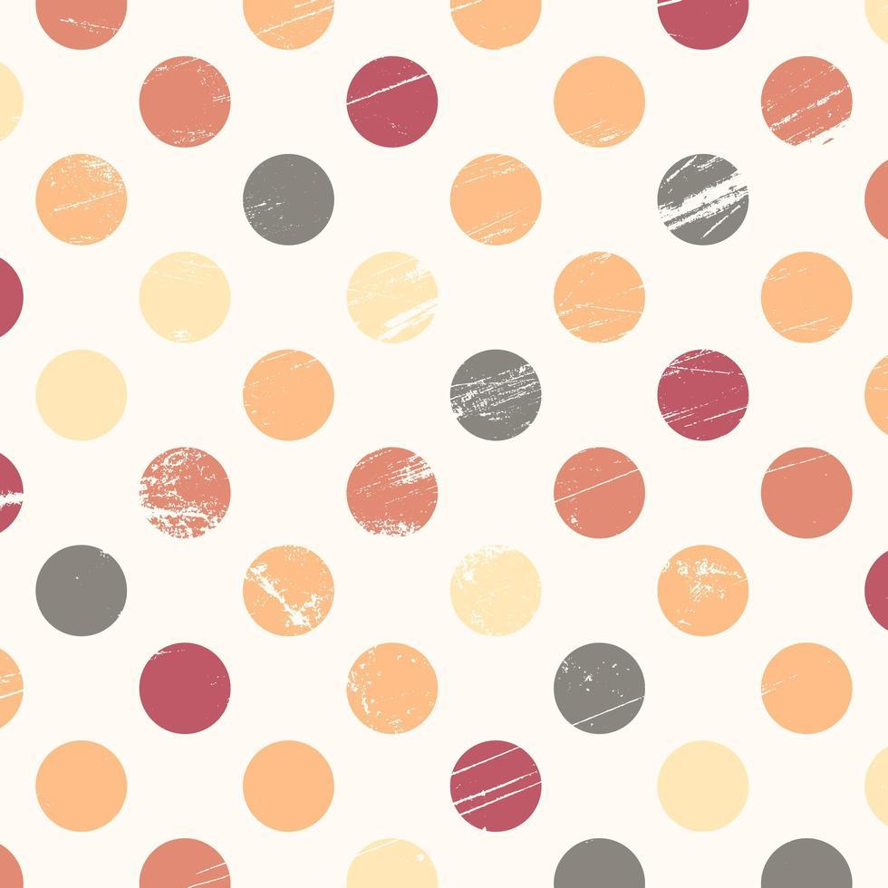grunge kleur polka dot ontwerp vector