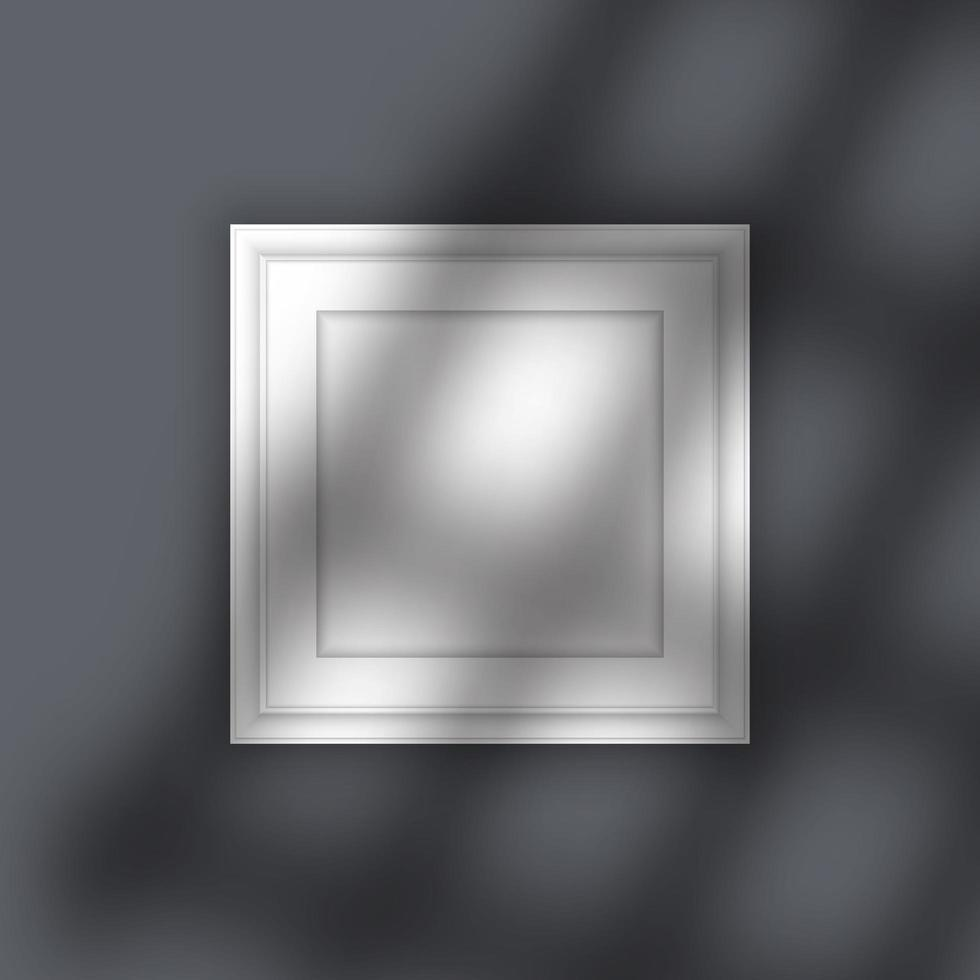 fotolijst mock up met schaduw overlay vector