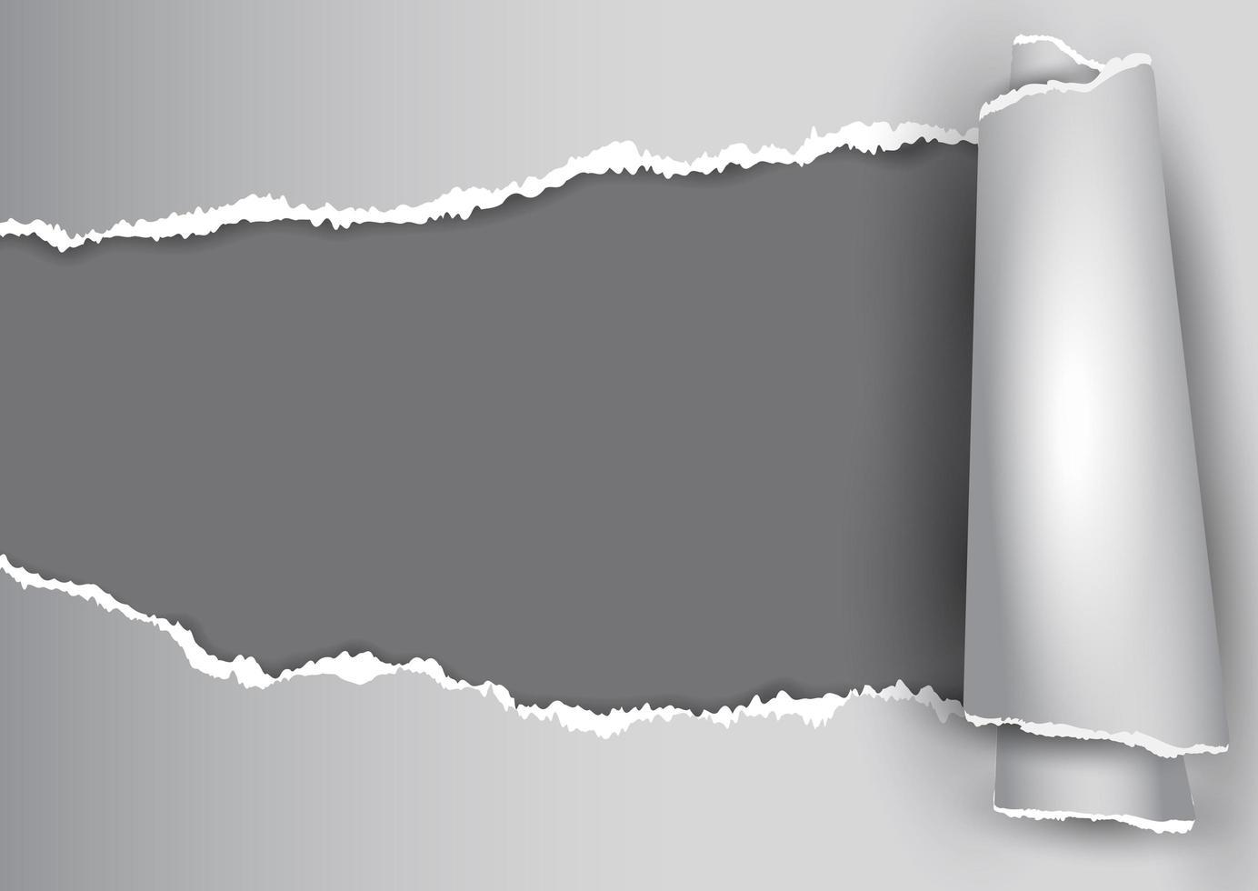 grijze kleurovergang gescheurd papier ontwerp vector