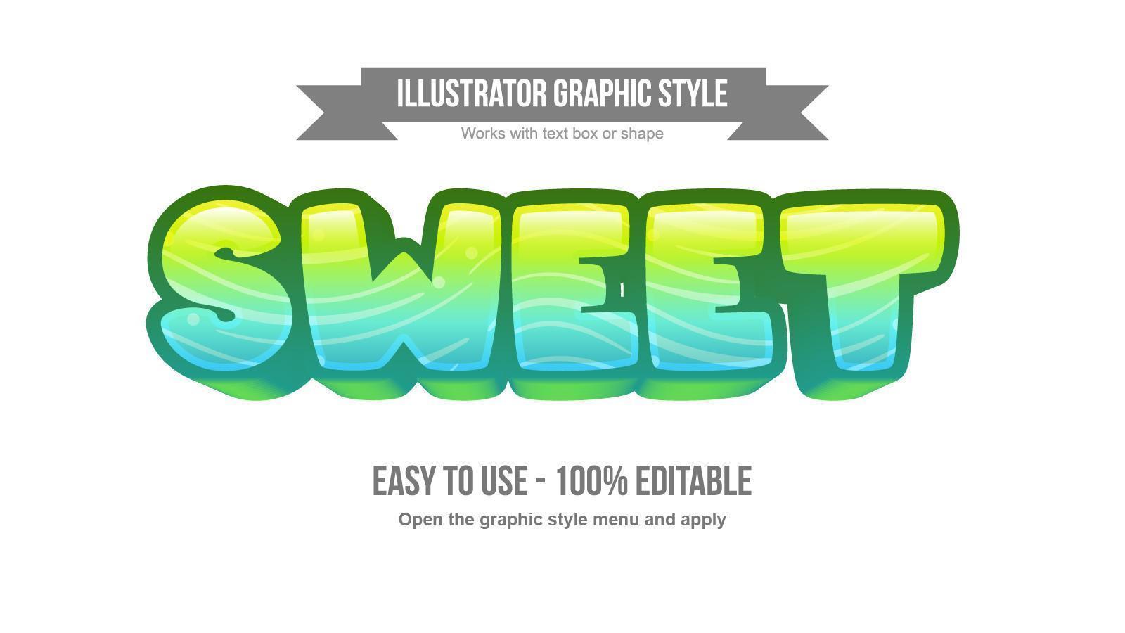 helder groen en blauw golven patroon cartoon teksteffect vector