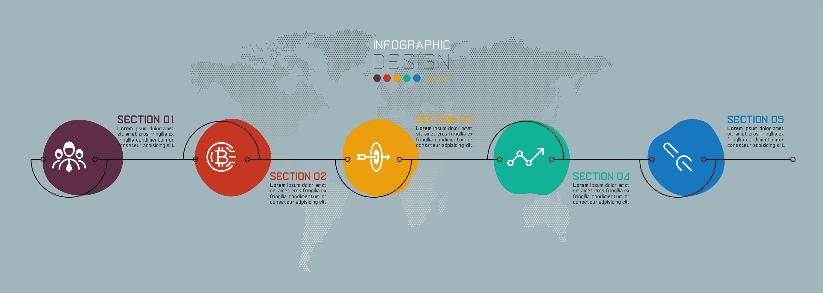 kleurrijke waterdruppel zakelijke infographic vector