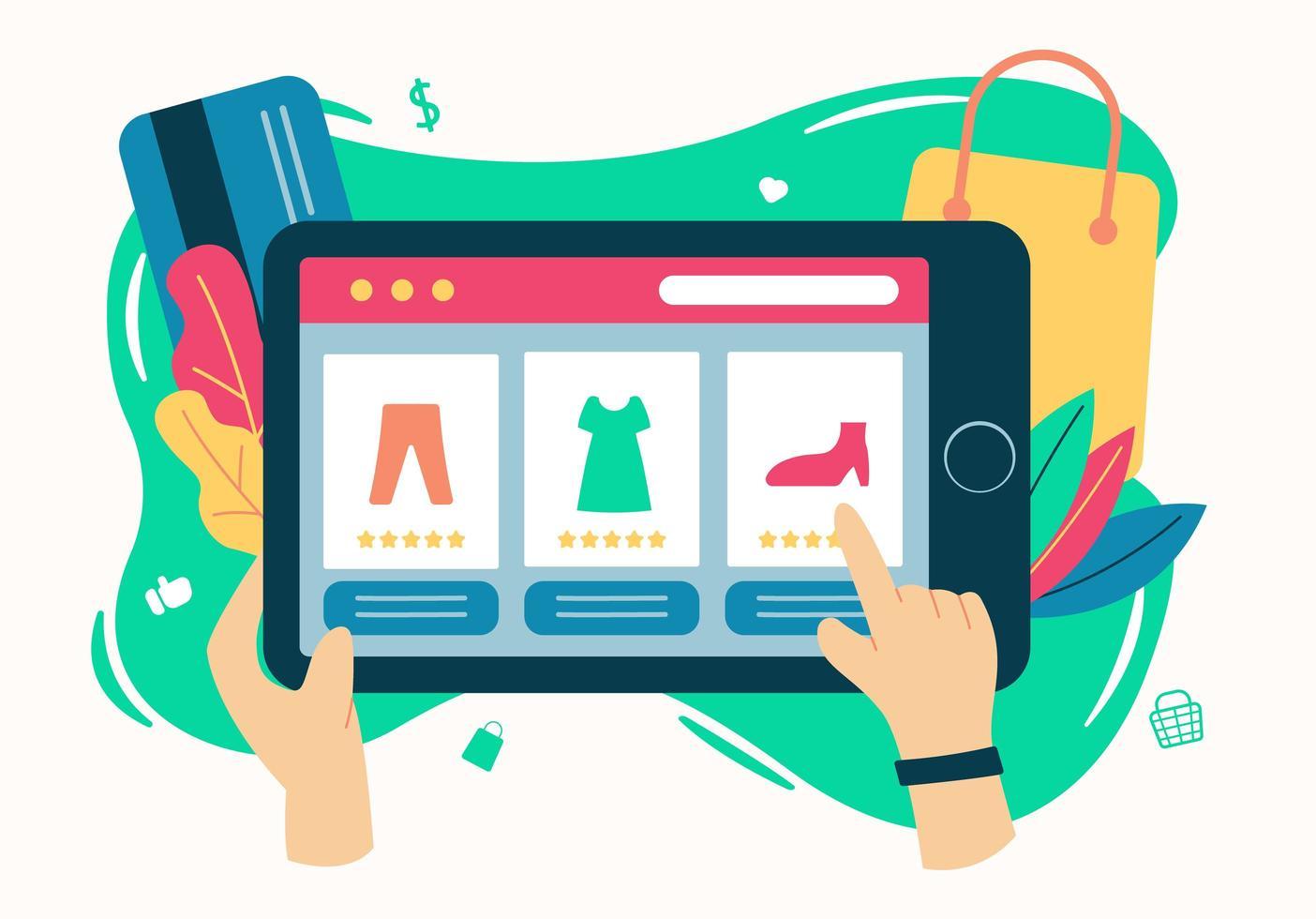 online retail vlakke stijl ontwerpconcept vector