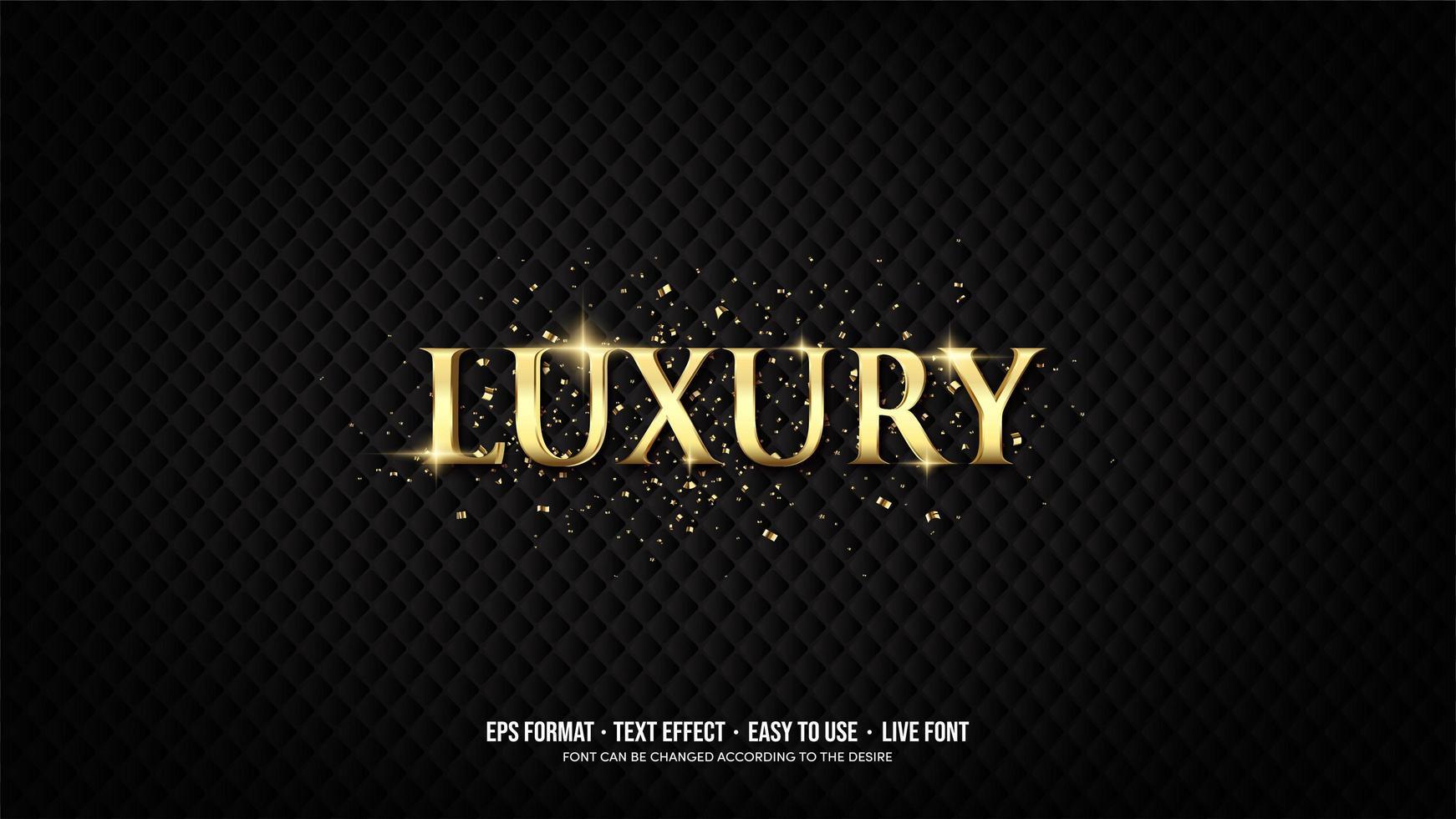 teksteffect met luxe gouden letters vector
