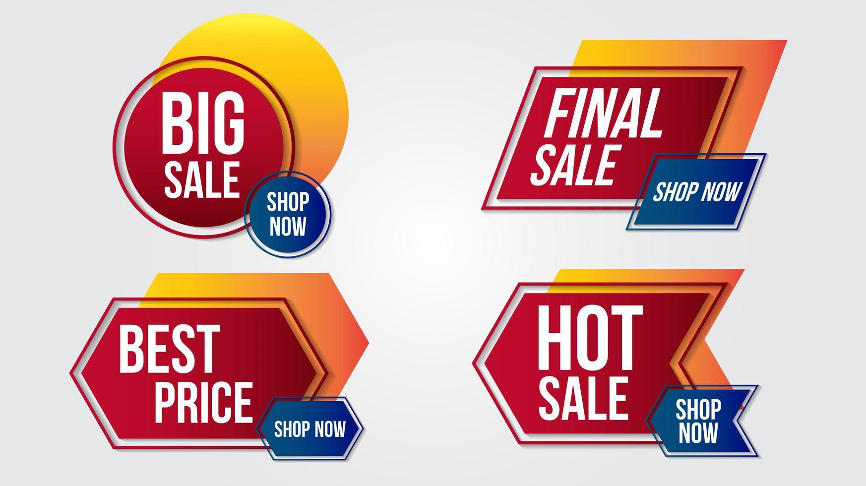 geometrische verloop ontwerp verkoop banners vector