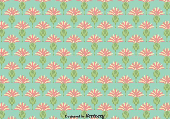 Flat Thistle Flowers Naadloze Achtergrond vector