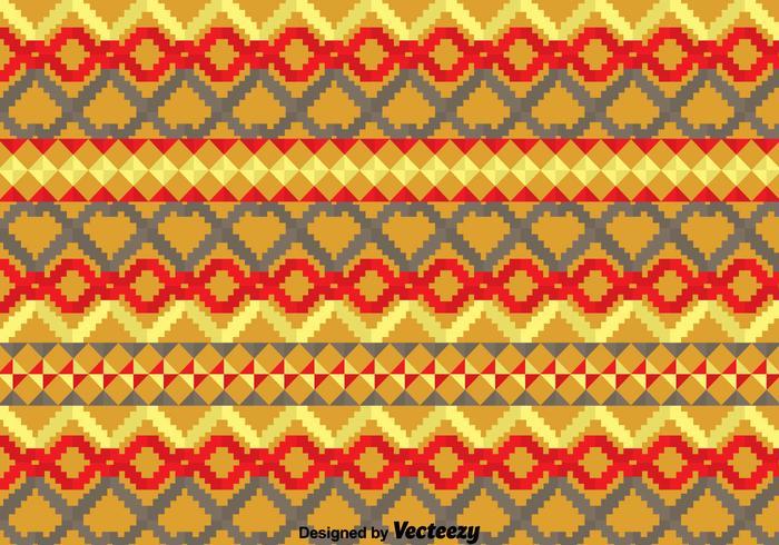 Geometrisch Etnisch Songketpatroon vector
