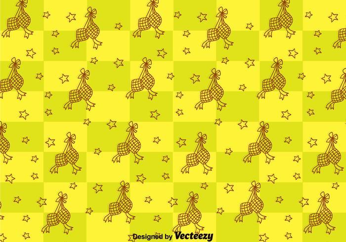 Ketupat Naadloos Patroon vector