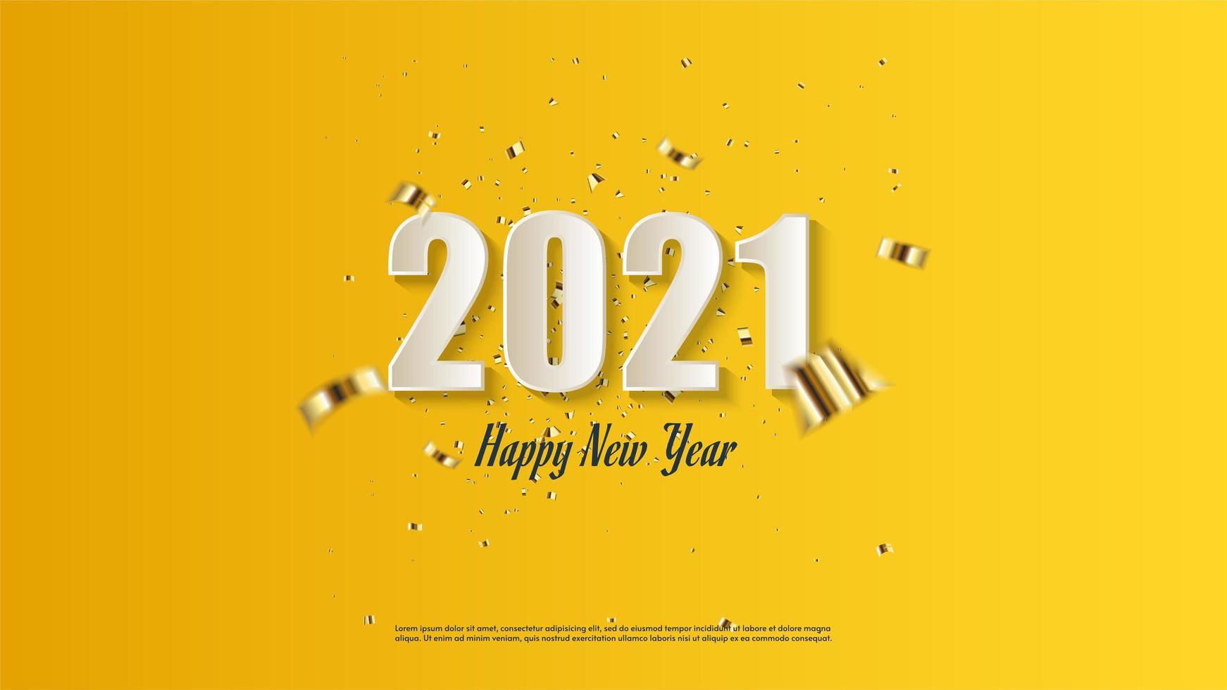 achtergrond 2021 met witte cijfers vector