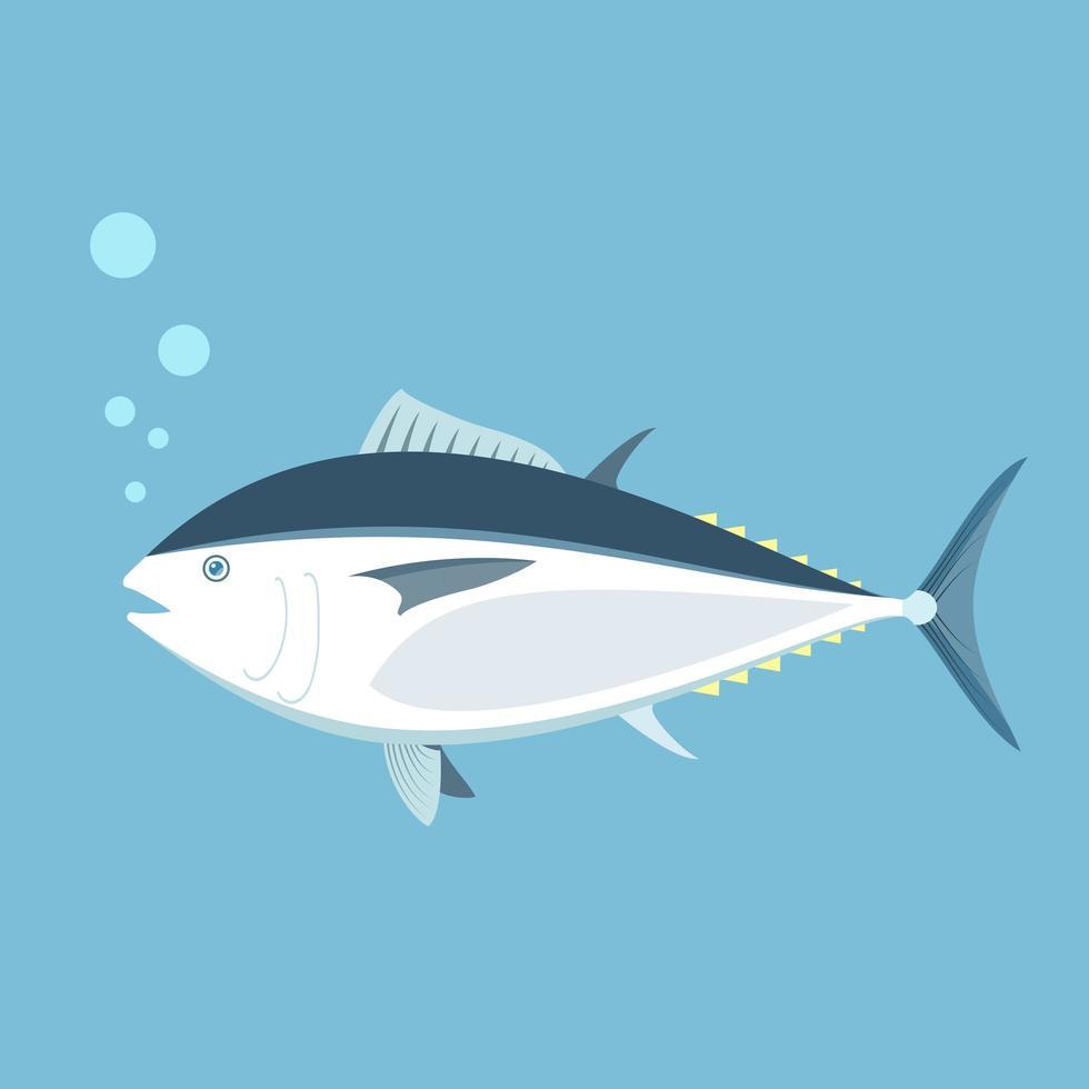 blauwvintonijn in water vector