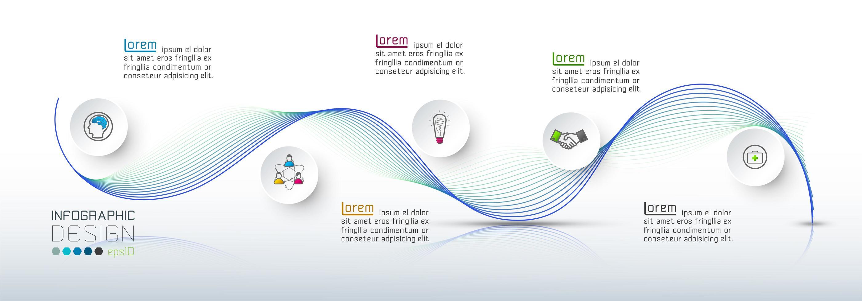 innovatie technologie structuur presentatie voor het bedrijfsleven vector
