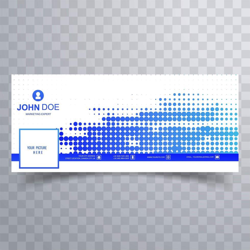 moderne blauwe gestippelde omslag voor tijdlijnontwerp vector