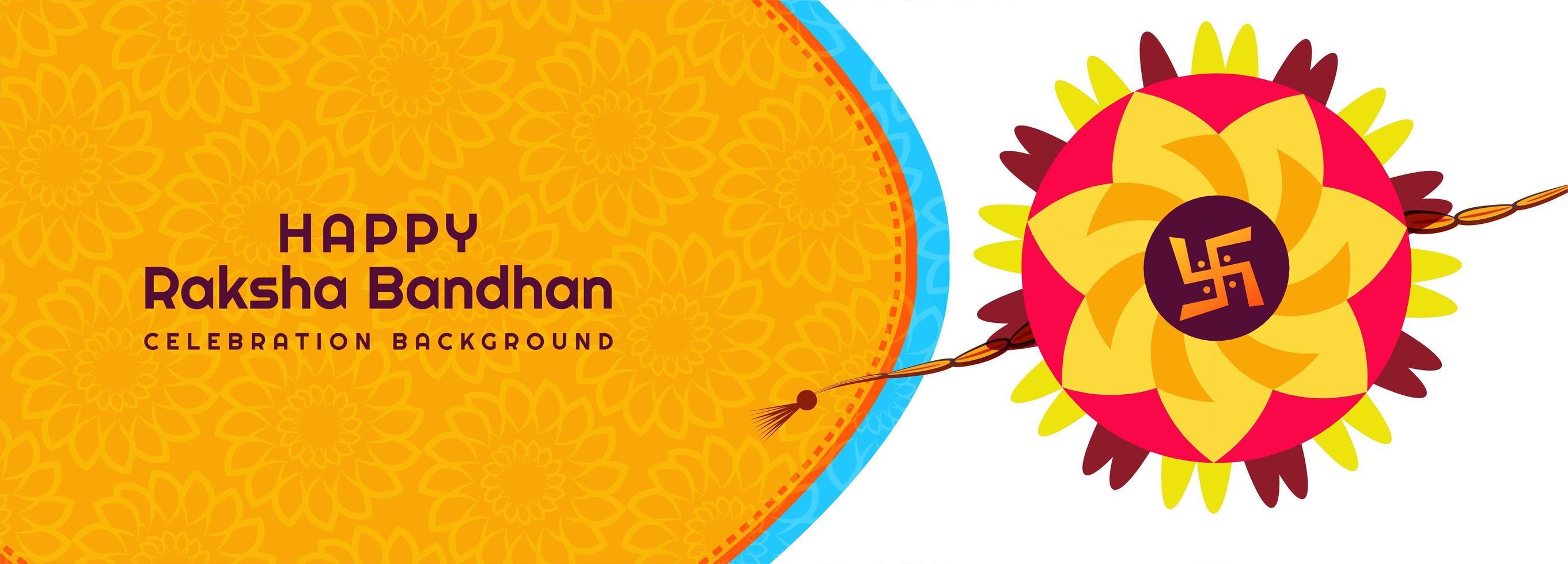 gelukkige raksha bandhan festival banner achtergrond vector