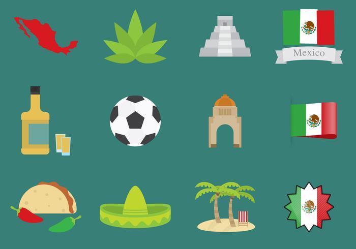 Mexico Pictogrammen vector