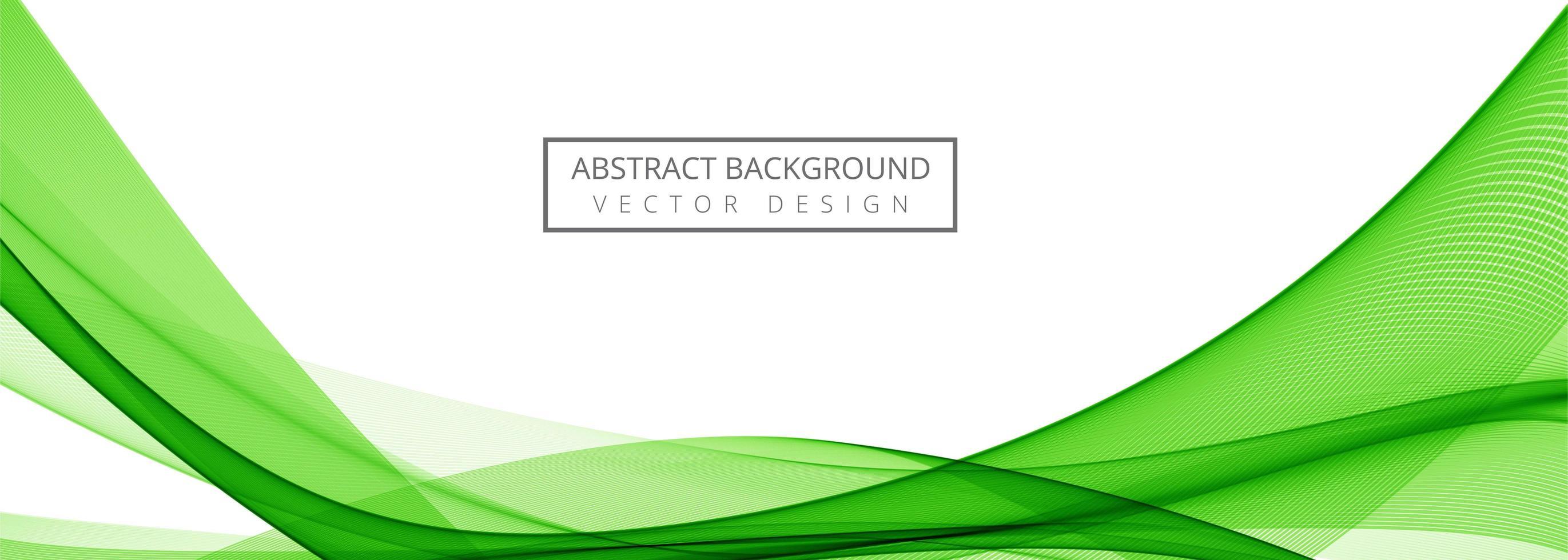 moderne groene stijlvolle golfbanner vector