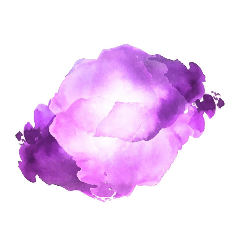 abstracte paarse zachte aquarel vlek vector