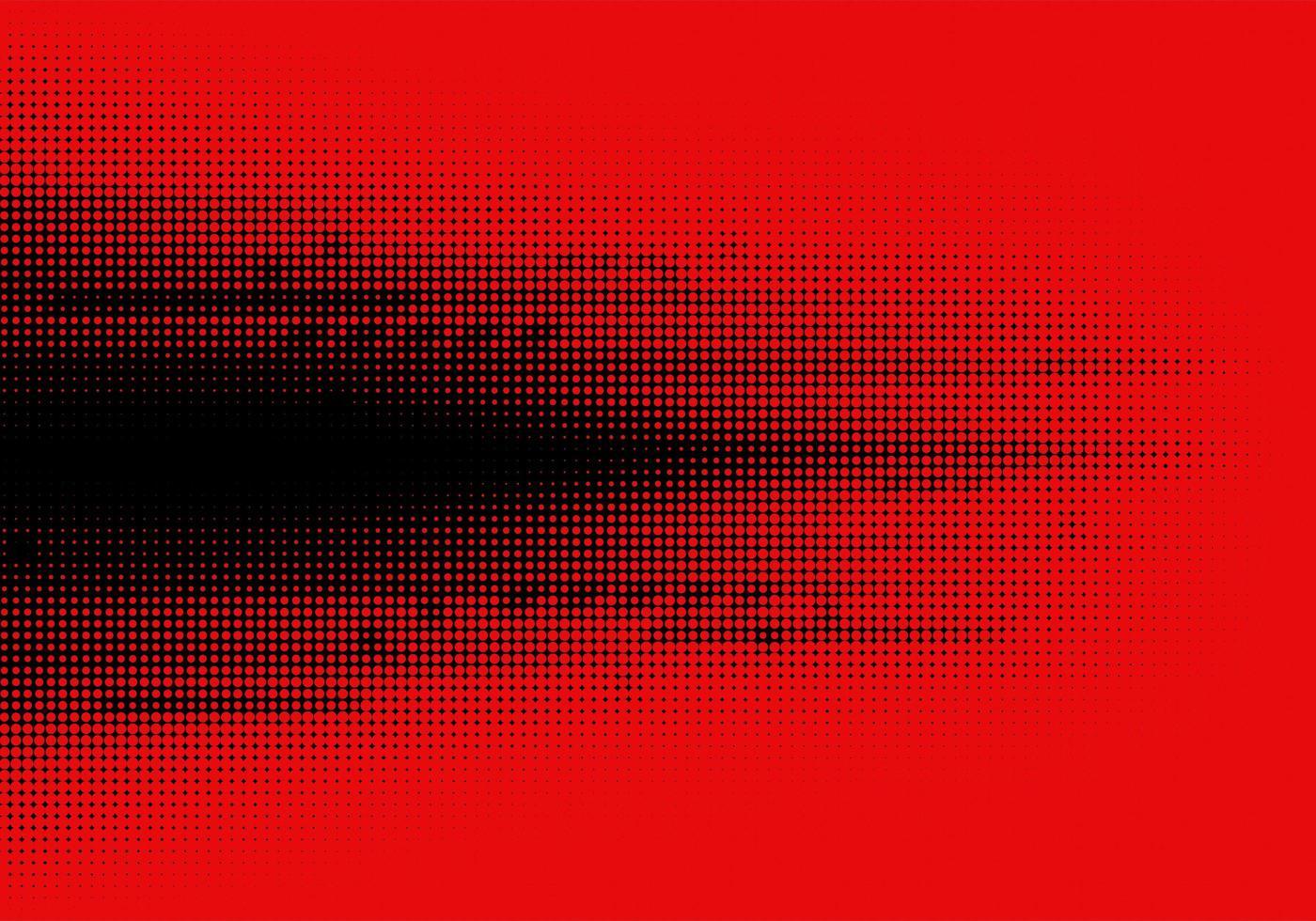 abstracte zwarte halftoon op rode achtergrond vector