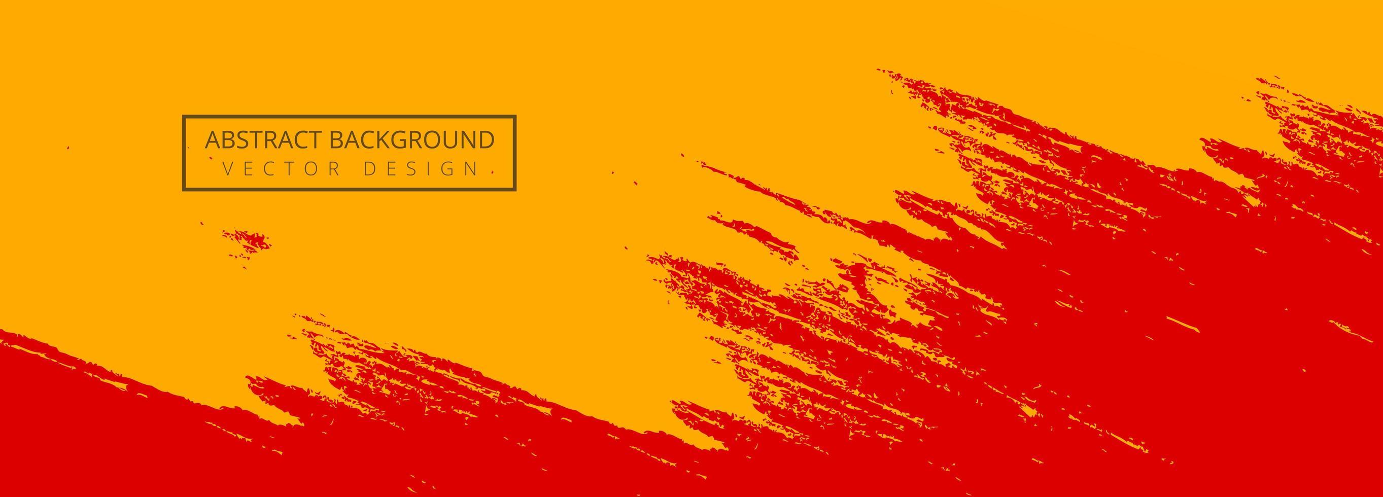 abstract oranje, rode verf penseel banner vector
