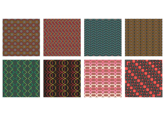 Chainmail stijl patroon set vector