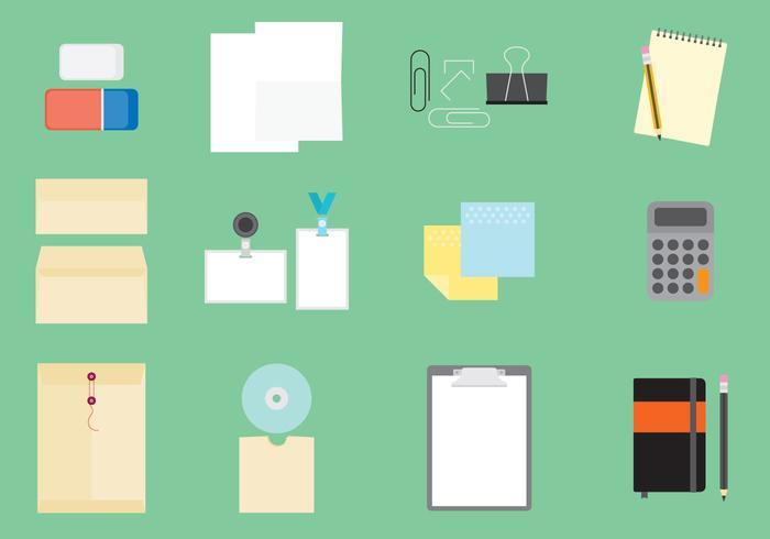 Pictogrammen voor kantoorartikelen vector