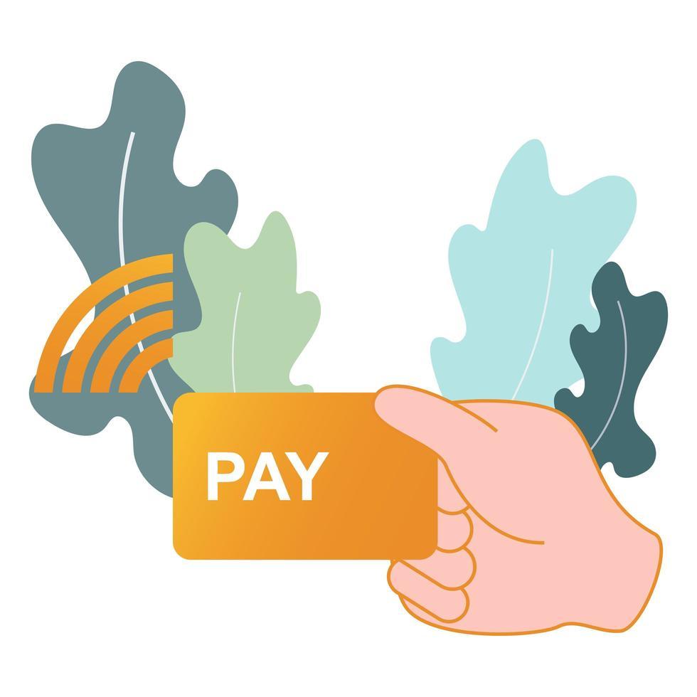 contactloze, contante betaling kopen illustratie vector