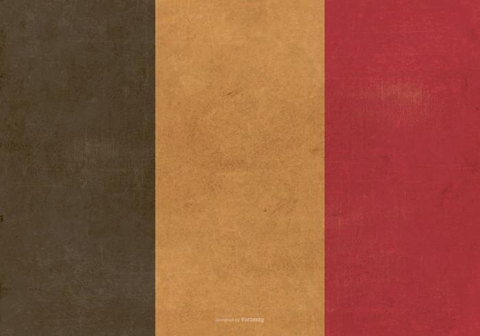 Grunge Vlag van België vector