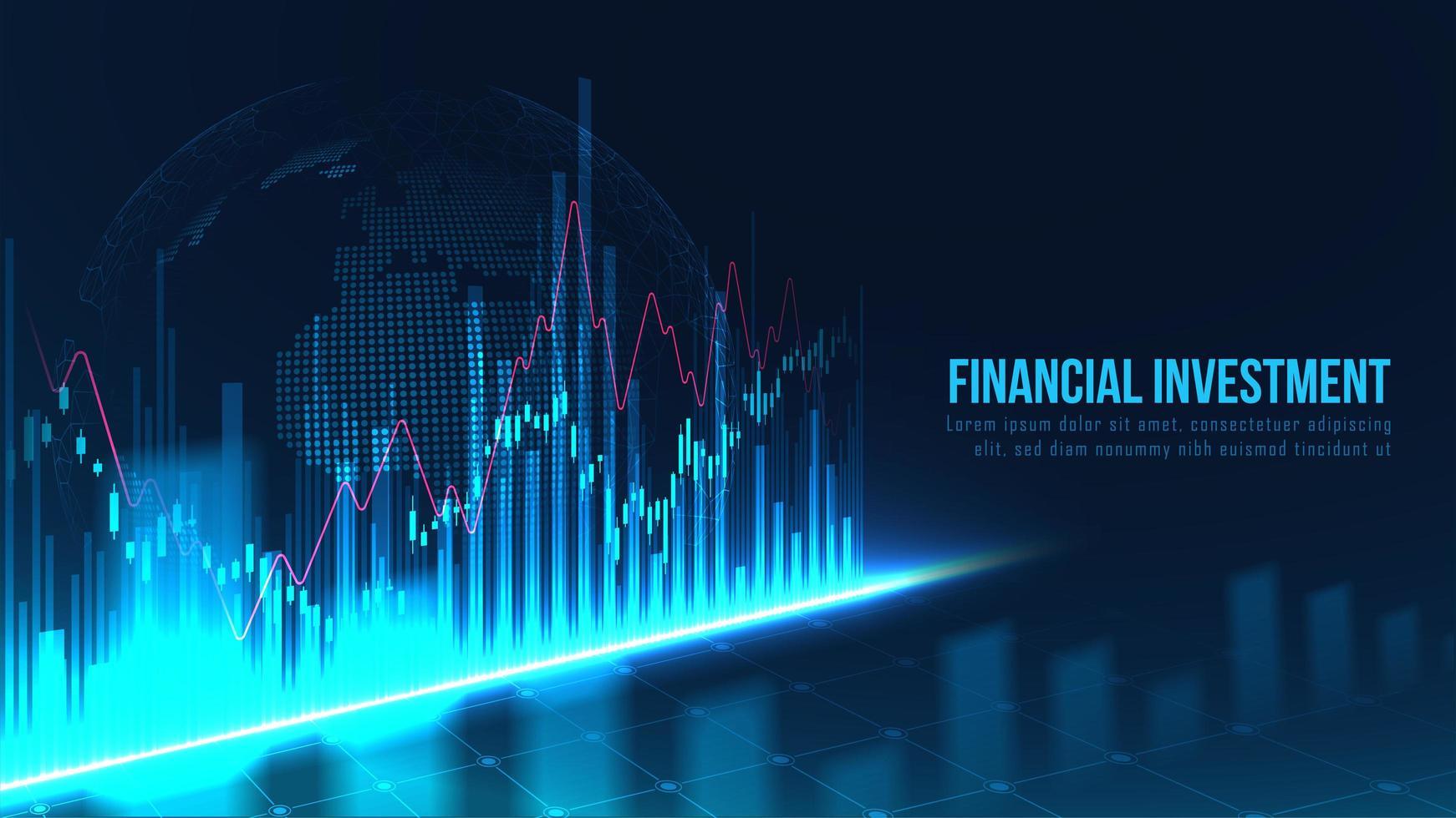 wereldwijde financiële investering grafiek grafisch concept vector