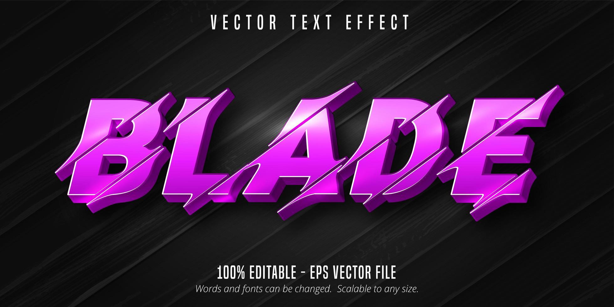 blad paars gesneden stijl teksteffect vector