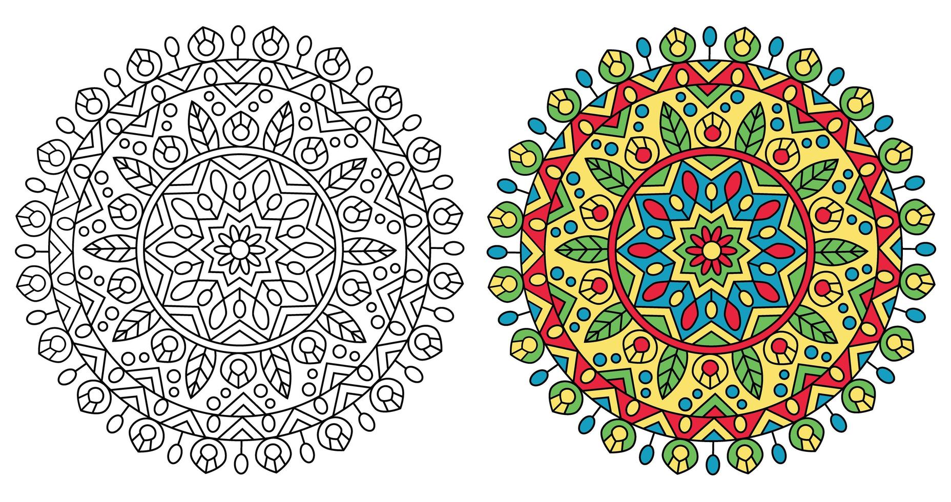 Traditionele Afgeronde Mandala Ontwerp Kleurplaat 1229192 Download Free Vectors Vector Bestanden Ontwerpen Templates