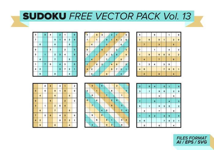 Sudoku Gratis Vector Pack Vol. 13