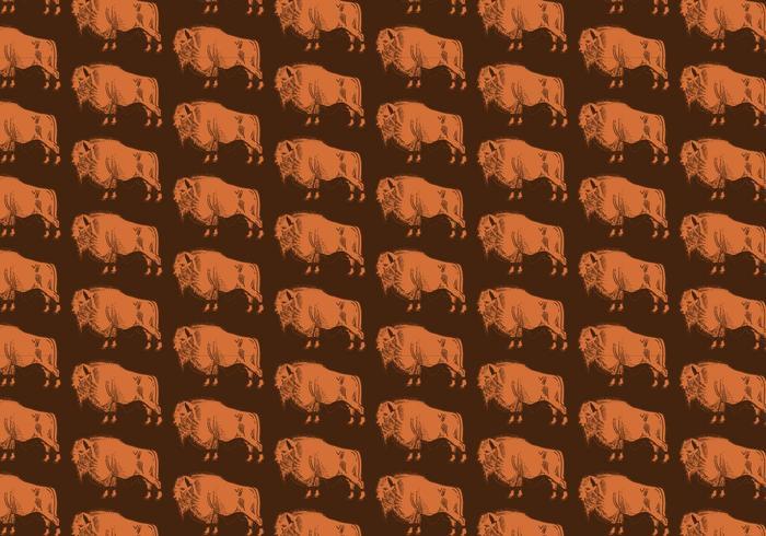 Buffalo Naadloos Patroon vector