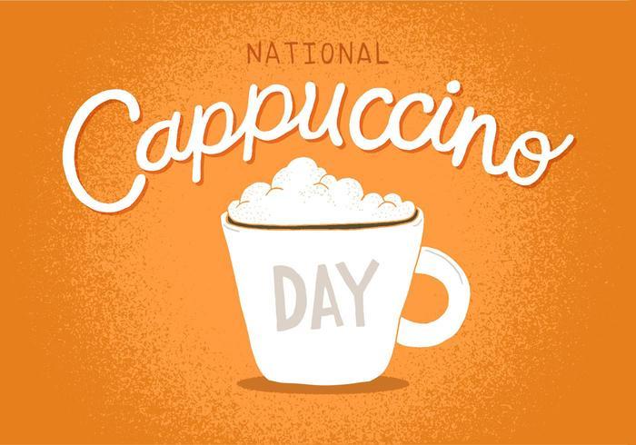Nationale Cappuccino Dag vector