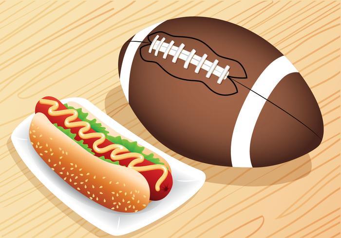 Hotdog voor achterklep vector