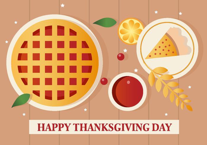 Gratis Vector Thanksgiving Pie