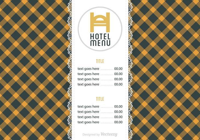Gratis Hotel Menu Vector Sjabloon