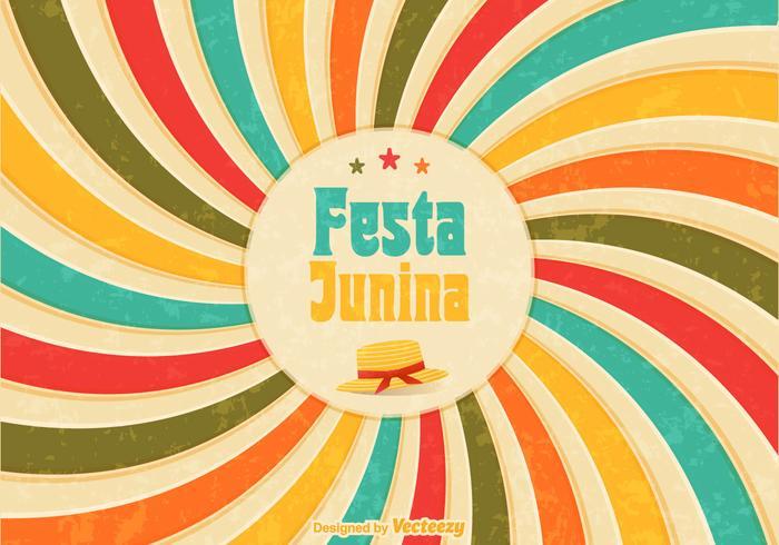 Gratis Festa Junina Retro Vector Poster