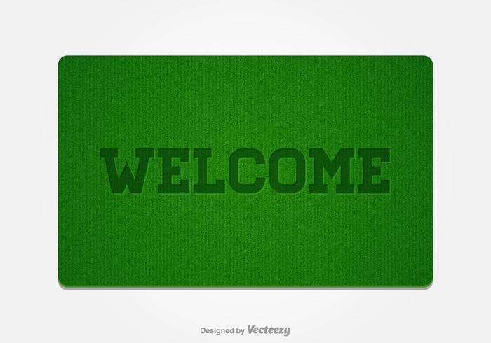 Gratis Welkom Doormat Vector