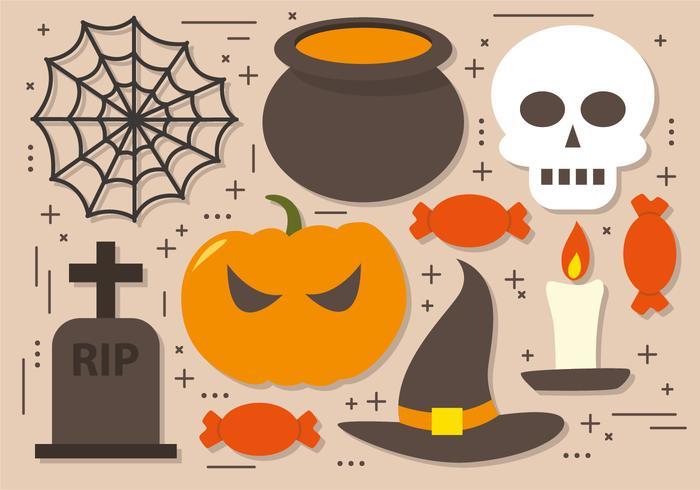 Griezelige Halloween Elements Vector Collectie