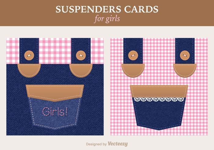 Gratis Girly Suspenders Vector wenskaart