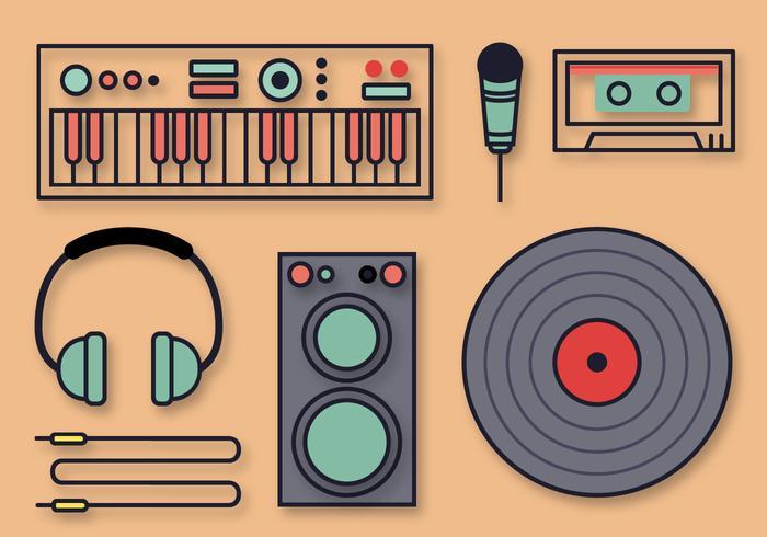 Gratis Muzikale DJ Vectoren