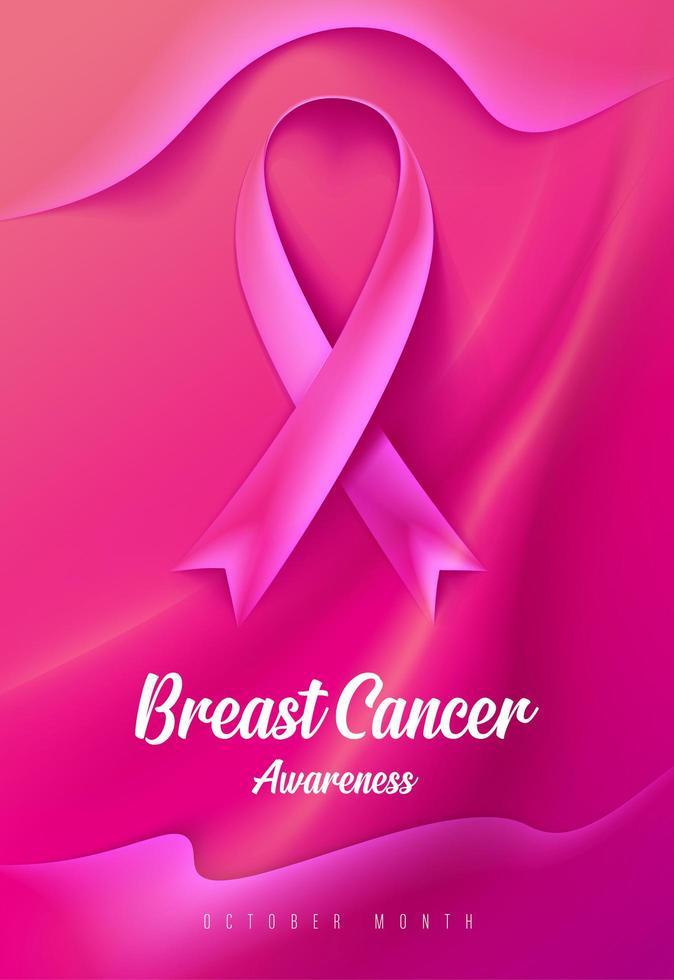borstkanker bewustzijn campagnekaart vector
